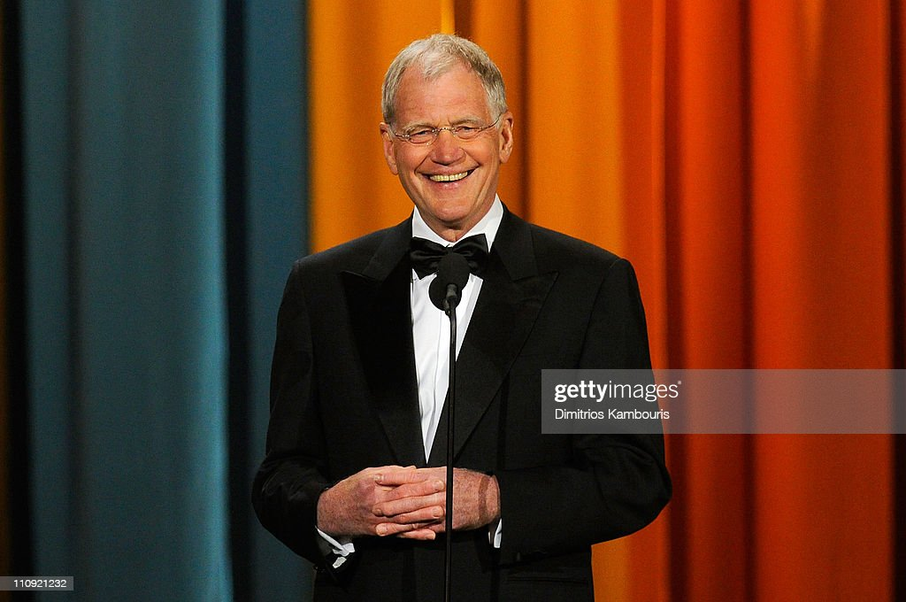 David Letterman speaks onstage at the First Annual Comedy Awards at Hammerstein Ballroom on March 26, 2011 in New York City.