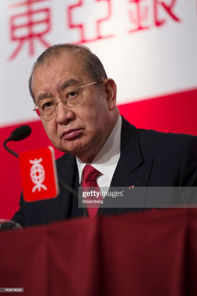 David Li, chairman and chief executive officer of Bank of East Asia Ltd. (BEA), attends the company's annual results news conference in Hong Kong, China, on Tuesday, Feb. 26, 2013. Bank of East Asia, Hong Kong's largest family-run lender, said 2012 profit jumped 39 percent as trading income climbed, helping offset a decline in profit from the mainland China business. Photographer: Jerome Favre/Bloomberg via Getty Images