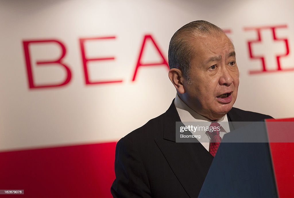 David Li, chairman and chief executive officer of Bank of East Asia Ltd. (BEA), speaks during the company's annual results news conference in Hong Kong, China, on Tuesday, Feb. 26, 2013. Bank of East Asia, Hong Kong's largest family-run lender, said 2012 profit jumped 39 percent as trading income climbed, helping offset a decline in profit from the mainland China business. Photographer: Jerome Favre/Bloomberg via Getty Images
