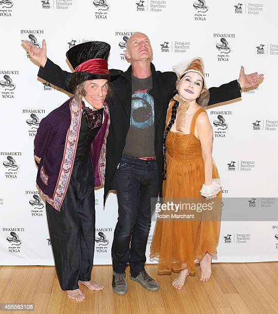 David Life Sting and Sharon Gannon attend the 'Simple Recipes For Joy' Book Release Party at Jivamukti Yoga School on September 16 2014 in New York...