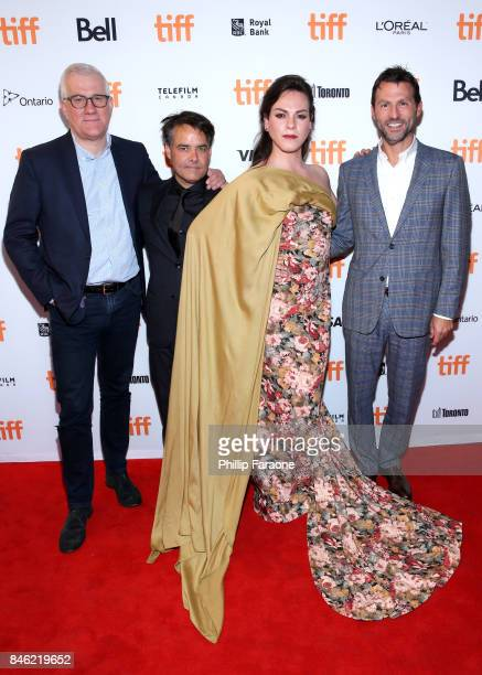 David Linde director Sebastian Lelio Daniela Vega and guest attend the 'A Fantastic Woman' premiere during the 2017 Toronto International Film...