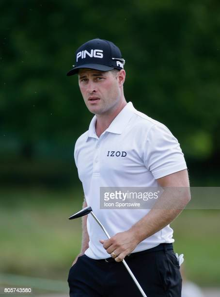 David Lingmerth after play on the first hole during the third round of the Quicken Loans National on July 01 2017 at TPC Potomac at Avenel Farm in...