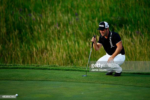 David Lingmerth of Sweden during the first round of the 2015 PGA Championship at Whistling Straits on August 13 2015 in Sheboygan Wisconsin