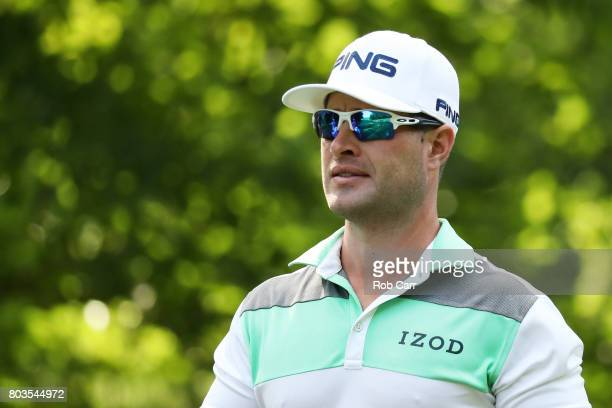David Lingmerth of Sweden looks on during the first round of the Quicken Loans National on June 29 2017 TPC Potomac in Potomac Maryland