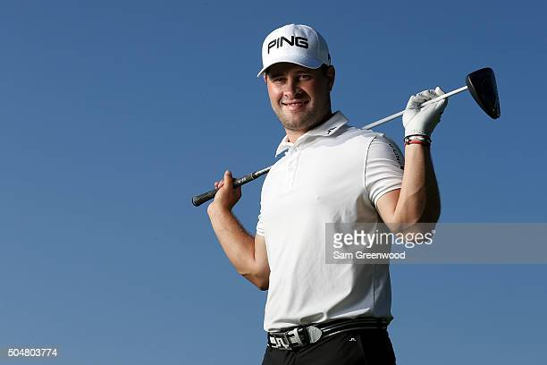 David Lingmerth of Sweden poses during the Sony Open In Hawaii ProAm tournament at Waialae Country Club on January 13 2016 in Honolulu Hawaii