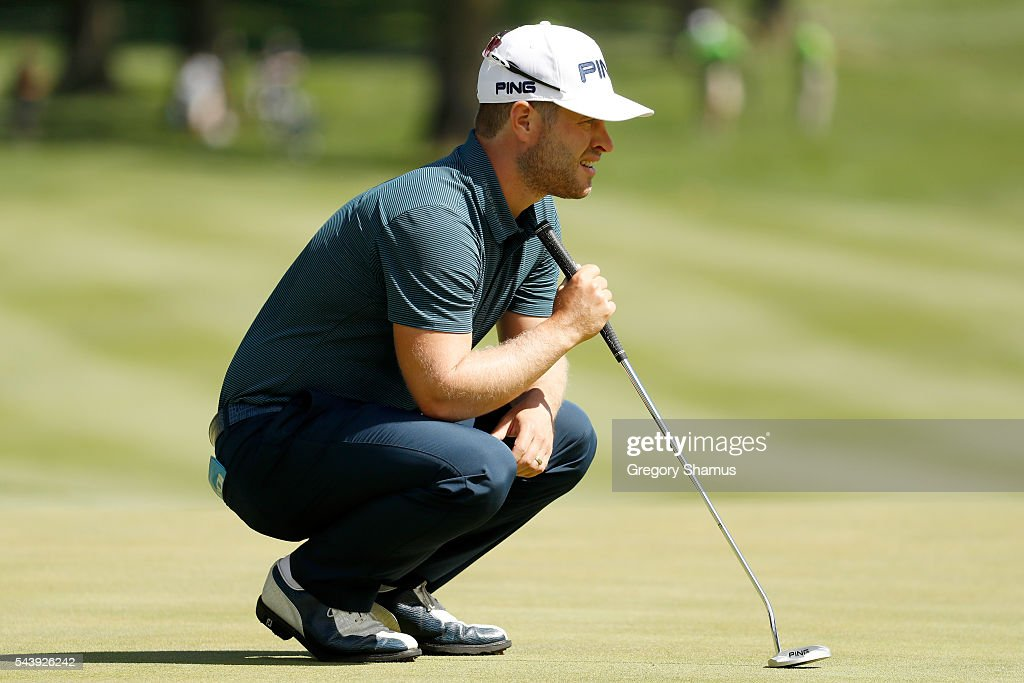 <a gi-track='captionPersonalityLinkClicked' href=/galleries/search?phrase=David+Lingmerth&family=editorial&specificpeople=7437307 ng-click='$event.stopPropagation()'>David Lingmerth</a> of Sweden prepares to putt on the second green during the first round of the World Golf Championships - Bridgestone Invitational at Firestone Country Club South Course on June 30, 2016 in Akron, Ohio.