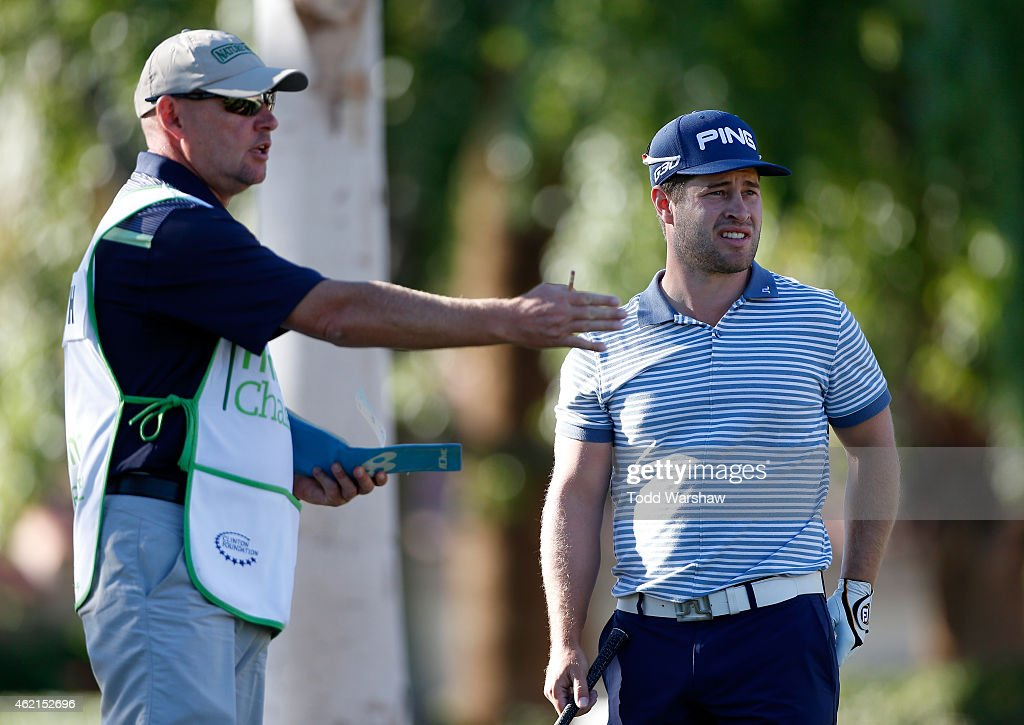 David Lingmerth of Sweden prepares to tee off on the second hole during the final round of the Humana Challenge in partnership with The Clinton...