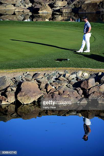 David Lingmerth of Sweden waits to putt on the 17th green during the final round of the CareerBuilder Challenge In Partnership With The Clinton...