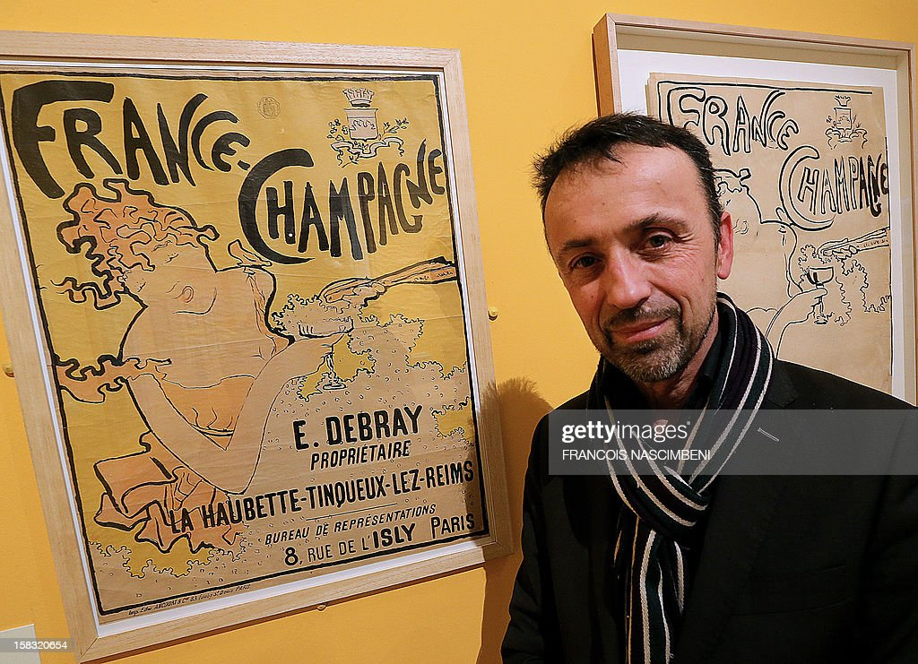 David Liot, director poses during the exhibition 'Les Arts de l'effervescence. Champagne !', dedicated to Champagne in the art on December 13, 2012 at the Beaux-Arts Museum in Reims. The exhibition runs till May 26, 2013. AFP PHOTO FRANCOIS NASCIMBENI