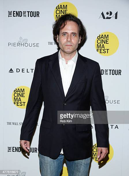David Lipsky attends BAMcinemaFest 2015 'The End Of The Tour' opening night screening at BAM Howard Gilman Opera House on June 17 2015 in New York...