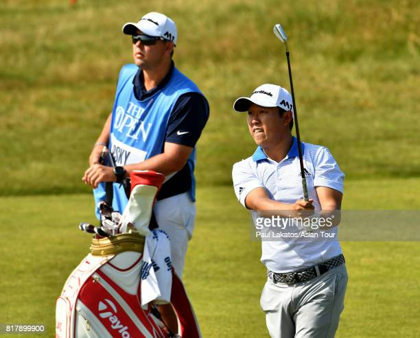 David Lipsky of the USA during a practice round prior to the 146th Open Championship at Royal Birkdale on July 18 2017 in Southport England