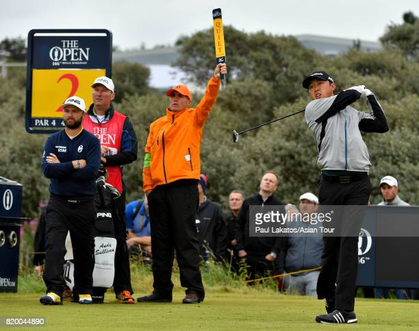 David Lipsky of the USA pictured on hole 2 at Royal Birkdale on July 21 2017 in Southport England