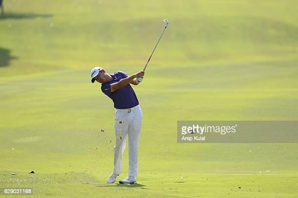 David Lipsky of USA pictured during final round of the UBS Hong Kong Open 2016 at The Hong Kong Golf Club on December 11 2016 in Hong Kong Hong Kong