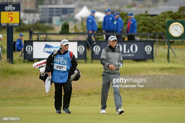 David Lipsky of USA pictured during the practice round ahead of The 144th Open Championship at The Old Course on July 15 2015 in St Andrews Scotland