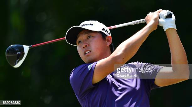 David Lipsky of USA plays a shot during Day Four of the Maybank Championship Malaysia at SaujanaGolf Club on February 12 2017 in Kuala Lumpur Malaysia