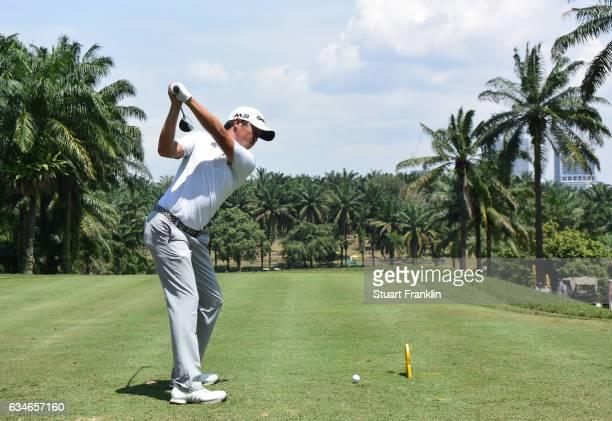 David Lipsky of USA plays a shot during Day Three of the Maybank Championship Malaysia at Saujana Golf Club on February 11 2017 in Kuala Lumpur...