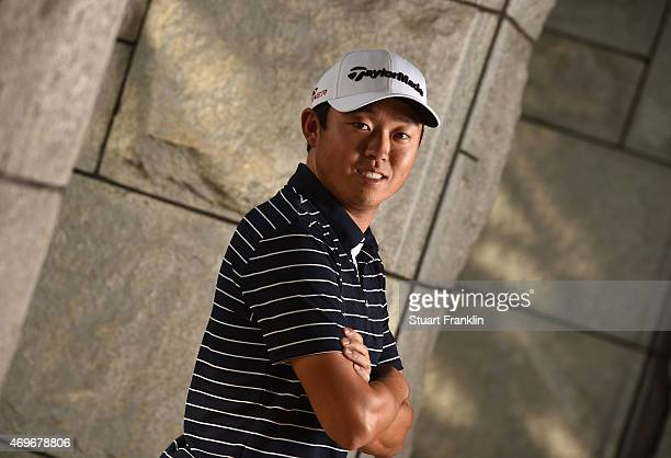 David Lipsky of USA poses for a picture prior to the start of the Shenzhen International at Genzon Golf Club on April 15 2015 in Shenzhen China