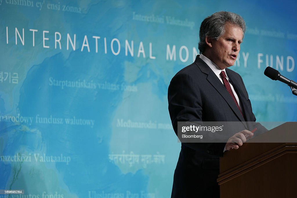 David Lipton first deputy managing director of the International Monetary Fund speaks during a news conference in Tokyo Japan on Friday May 31 2013...