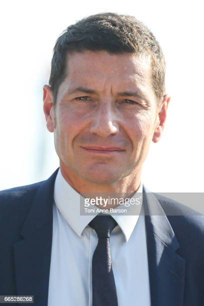 David Lisnard Cannes Mayor attends photocall for MIPTV 2017 Opening and New Cannes Television Series Festival launching in 2018 on April 3 2017 in...