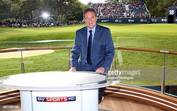 David Livingstone Sky golf anchor is pictured during the final round of the British Masters supported by Sky Sports at Woburn Golf Club on October 11...