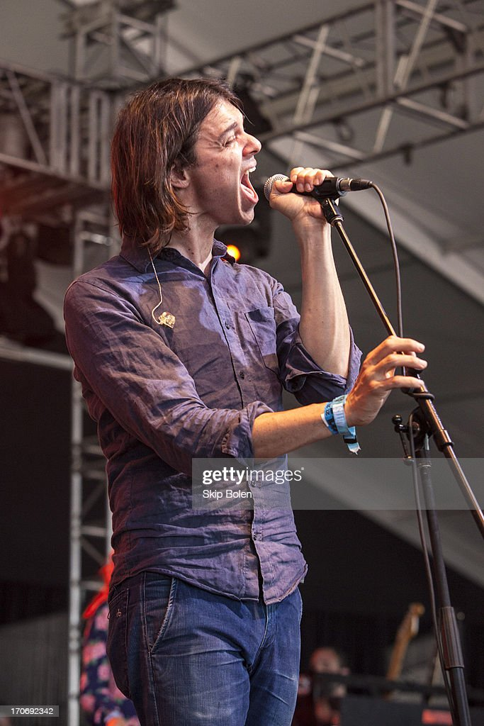 David Longstreth of Dirty Projectors performs during the 2013 Bonnaroo Music & Arts Festival on June 15, 2013 in Manchester, Tennessee.