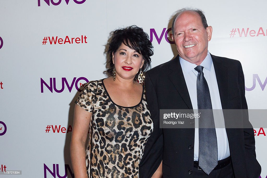David Lopez (R) attends the NUVOtv Network Launch Party at The London West Hollywood on July 16, 2013 in West Hollywood, California.