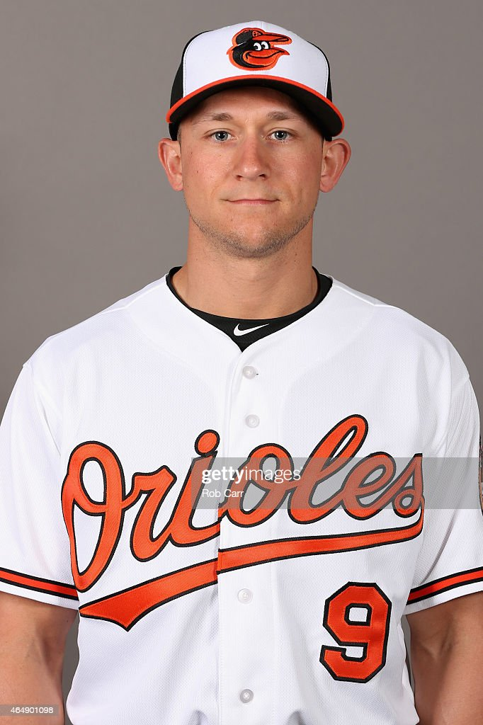 <a gi-track='captionPersonalityLinkClicked' href=/galleries/search?phrase=David+Lough&family=editorial&specificpeople=6780100 ng-click='$event.stopPropagation()'>David Lough</a> #9 of the Baltimore Orioles poses on photo day at Ed Smith Stadium on March 1, 2015 in Sarasota, Florida.