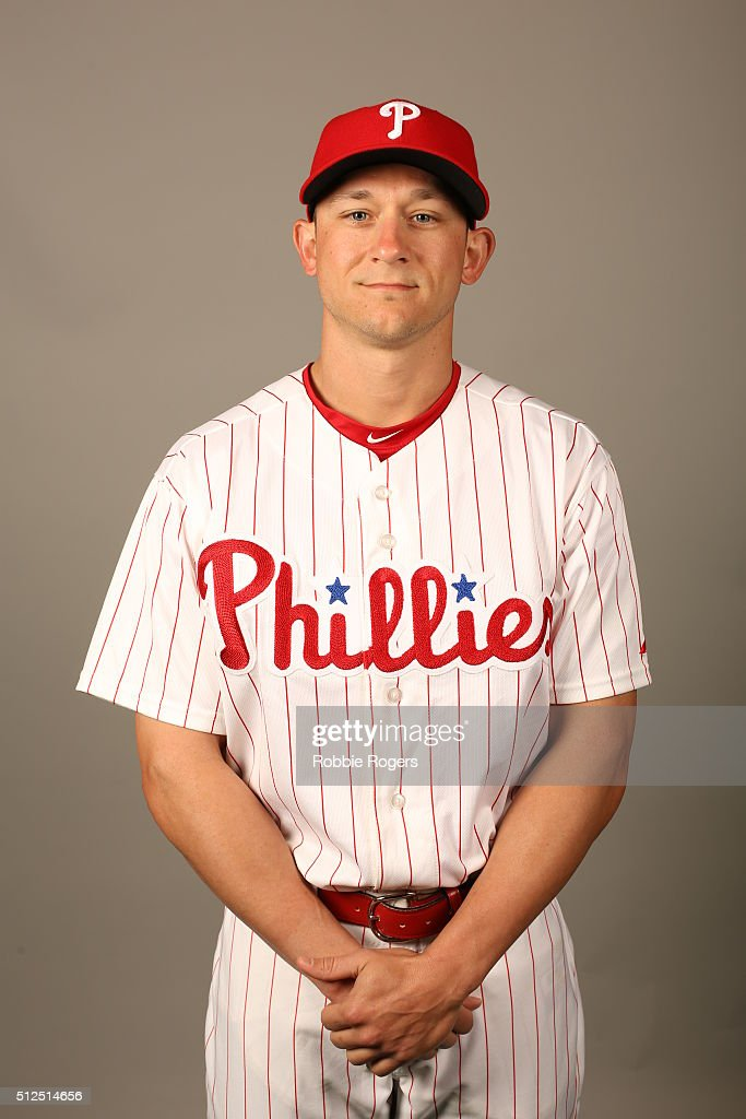 <a gi-track='captionPersonalityLinkClicked' href=/galleries/search?phrase=David+Lough&family=editorial&specificpeople=6780100 ng-click='$event.stopPropagation()'>David Lough</a> #3 of the Philadelphia Phillies poses during Photo Day on Friday, February 26, 2016 at Bright House Field in Clearwater, Florida.