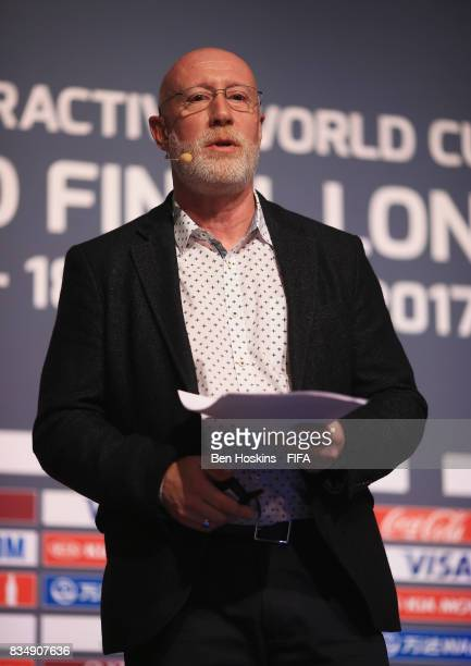 David Lucas Nielsen Sports Head of International Federations talks during day three of the FIFA Interactive World Cup 2017 Grand Final at Central...