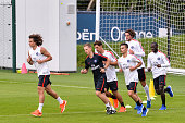 David Luiz during Paris Saint Germain First Training Session on July 4 2016 in Camp des Loges SaintGermainenLaye France