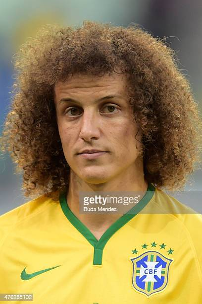 David Luiz of Brazil looks on before the International Friendly Match between Brazil and Mexico at Allianz Parque on June 7 2015 in Sao Paulo Brazil