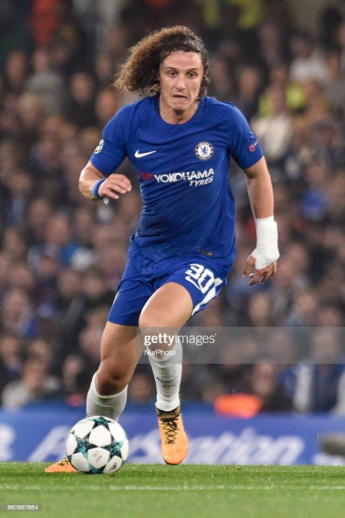 David Luiz of Chelsea during the UEFA Champions League match between Chelsea v AS Roma at Stamford Bridge Stadium, London, United Kingdom on 18 October 2017.