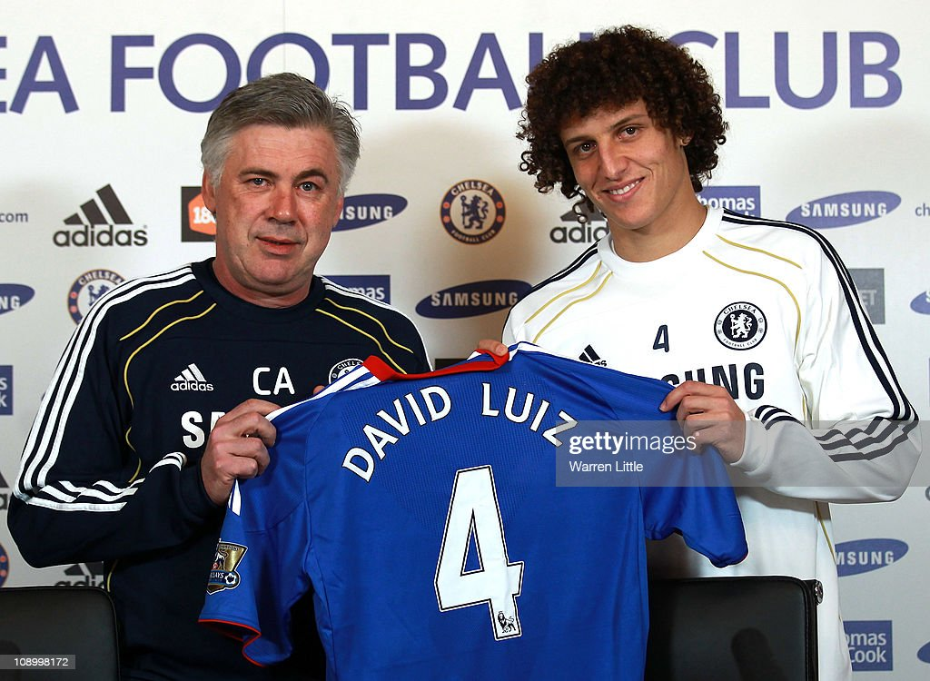 Chelsea Press Conference to announce new signing David Luiz