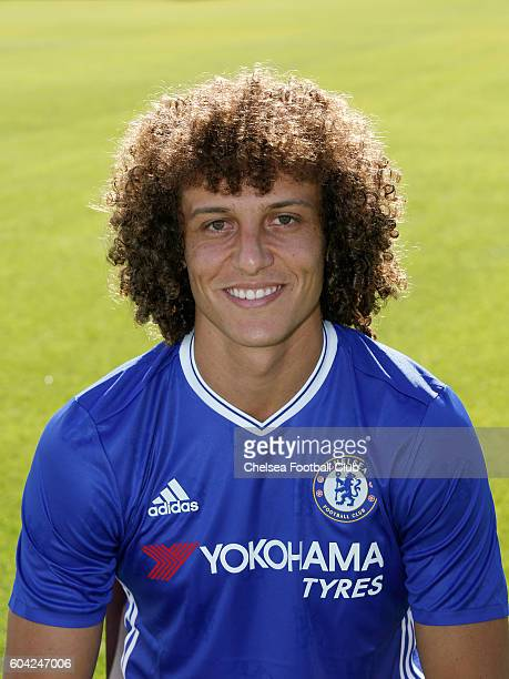 David Luiz of Chelsea poses for the headshot at Chelsea Training Ground on September 13 2016 in Cobham England