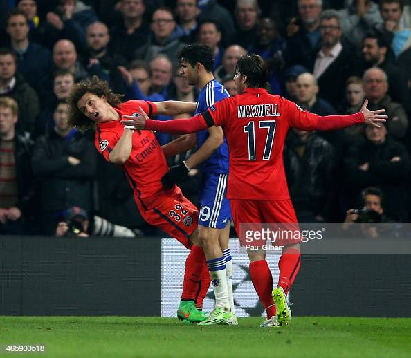 Photos Chelsea Vs Paris Saint Germain: Diego Costa David Luiz Stock Photos And Pictures