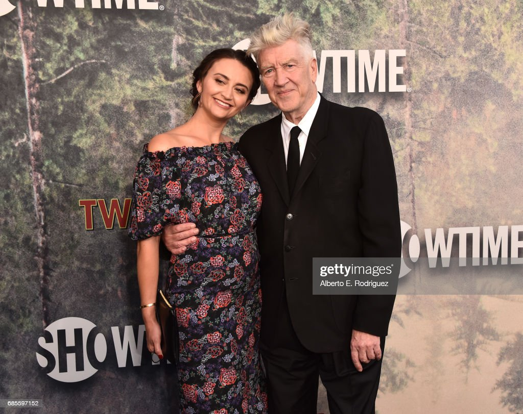David Lynch (R) and Emily Stofle attend the premiere of Showtime's 'Twin Peaks' at The Theatre at Ace Hotel on May 19, 2017 in Los Angeles, California.