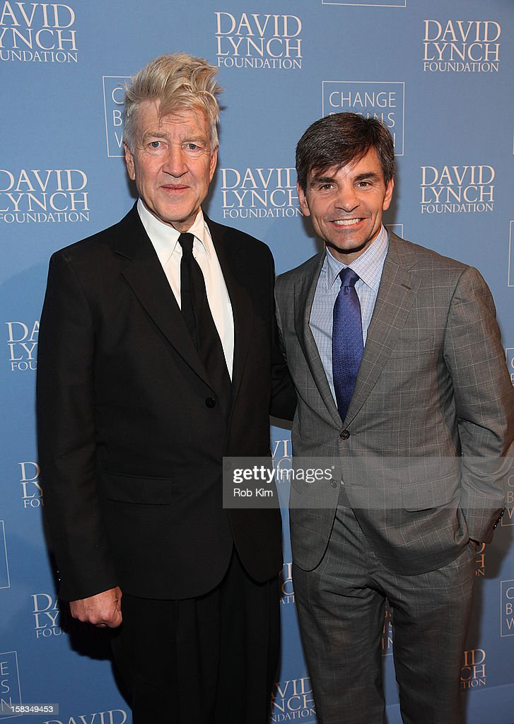 <a gi-track='captionPersonalityLinkClicked' href=/galleries/search?phrase=David+Lynch&family=editorial&specificpeople=224589 ng-click='$event.stopPropagation()'>David Lynch</a> (L) and <a gi-track='captionPersonalityLinkClicked' href=/galleries/search?phrase=George+Stephanopoulos&family=editorial&specificpeople=206404 ng-click='$event.stopPropagation()'>George Stephanopoulos</a> attend 'An Intimate Night of Jazz' hosted by The <a gi-track='captionPersonalityLinkClicked' href=/galleries/search?phrase=David+Lynch&family=editorial&specificpeople=224589 ng-click='$event.stopPropagation()'>David Lynch</a> Foundation at Frederick P. Rose Hall, Jazz at Lincoln Center on December 13, 2012 in New York City.