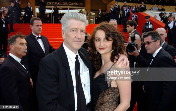 David Lynch and guest during 2007 Cannes Film Festival Opening Night Gala and World Premiere of 'My Blueberry Nights' Arrivals at Palais de Festival...