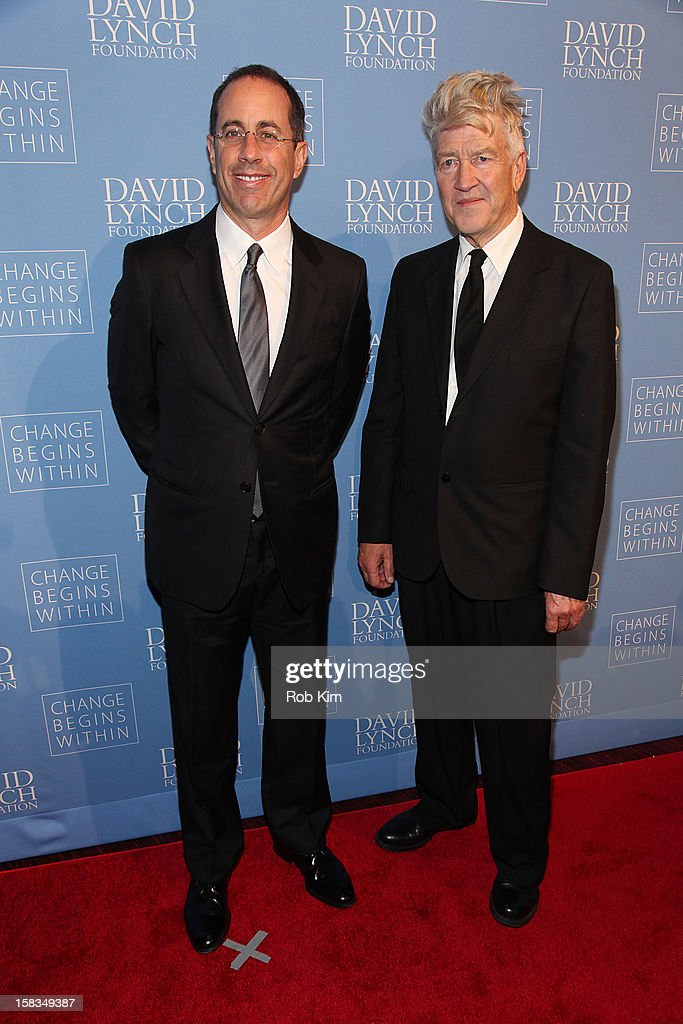<a gi-track='captionPersonalityLinkClicked' href=/galleries/search?phrase=David+Lynch&family=editorial&specificpeople=224589 ng-click='$event.stopPropagation()'>David Lynch</a> (R) and <a gi-track='captionPersonalityLinkClicked' href=/galleries/search?phrase=Jerry+Seinfeld&family=editorial&specificpeople=210541 ng-click='$event.stopPropagation()'>Jerry Seinfeld</a> attend 'An Intimate Night of Jazz' hosted by The <a gi-track='captionPersonalityLinkClicked' href=/galleries/search?phrase=David+Lynch&family=editorial&specificpeople=224589 ng-click='$event.stopPropagation()'>David Lynch</a> Foundation at Frederick P. Rose Hall, Jazz at Lincoln Center on December 13, 2012 in New York City.