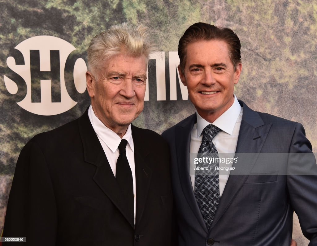David Lynch (L) and Kyle MacLachlan attend the premiere of Showtime's 'Twin Peaks' at The Theatre at Ace Hotel on May 19, 2017 in Los Angeles, California.
