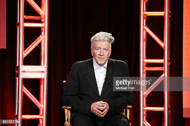 David Lynch for the television show 'Twin Peaks' speaks onstage during the 2017 Winter TCA Tour Panels CBS And Showtime held at The Langham...