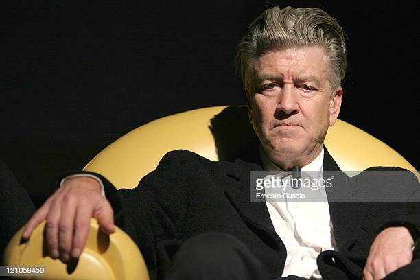 David Lynch Interviewed during the ' Viaggio Nel Cinema Americano' at the Auditorium of Rome January 13th 2006