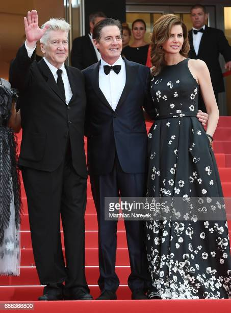 David Lynch Kyle MacLachlan and Desiree Gruber attend the 'Twin Peaks' screening during the 70th annual Cannes Film Festival at Palais des Festivals...
