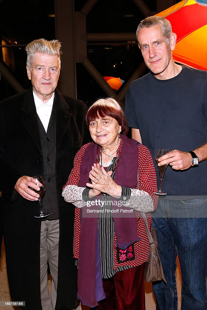 David Lynch, photographer Agnes Varda and contemporary artist Ron Mueck attend the 'Ron Mueck' Exhibition : Closing Night at 'Fondation Cartier pour L'Art Contemporain' on October 24, 2013 in Paris, France.