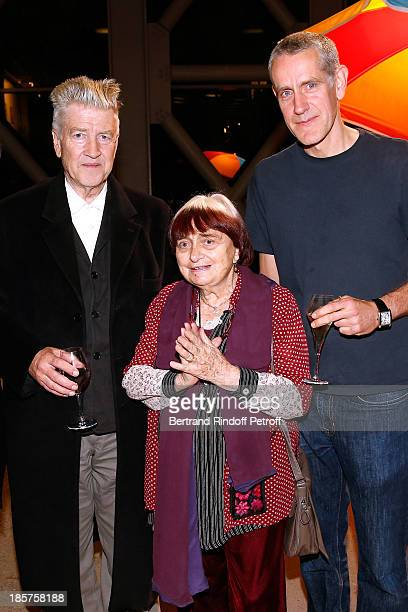 David Lynch photographer Agnes Varda and contemporary artist Ron Mueck attend the 'Ron Mueck' Exhibition Closing Night at 'Fondation Cartier pour...
