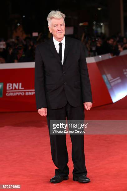 David Lynch walks the red carpet during the 12th Rome Film Fest at Auditorium Parco Della Musica on November 4 2017 in Rome Italy