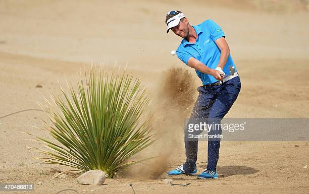 David Lynn of England during the first round of the World Golf Championships Accenture Match Play Championship at The Golf Club at Dove Mountain on...