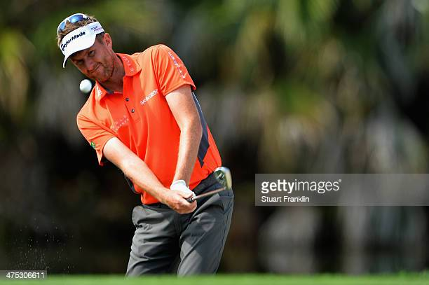 David Lynn of England plays a shot during the first round of The Honda Classic at PGA National Resort and Spa on February 27 2014 in Palm Beach...