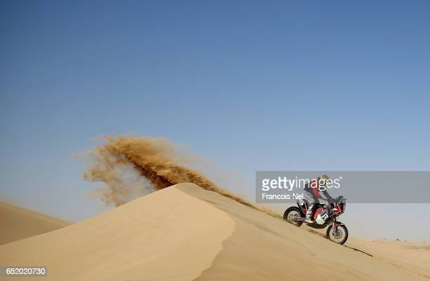 David Mabbs of Great Britain competes during day two of the Dubai International Baja on March 11 2017 in Dubai United Arab Emirates
