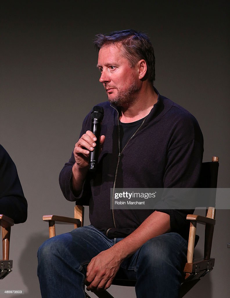 David Mackenzie attends Meet The Filmmaker David Mackenzie And Jack O'Connell 'Starred Up' during the 2014 Tribeca Film Festival at Apple Store Soho...